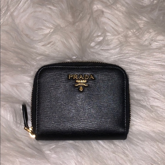 Prada Handbags - Small black Prada wallet.